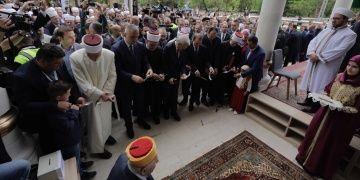Bosna Hersekte yeniden inşa edilen Foça Alaca Camii törenle açıldı