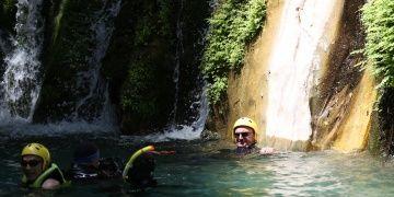 Antalya Valisi Münir Karaloğlu, Göynük Kanyonunda yüzdü