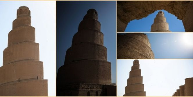 Irakın Mütevekkiliye Camisinin bin yıllık ünlü Melviye minaresi