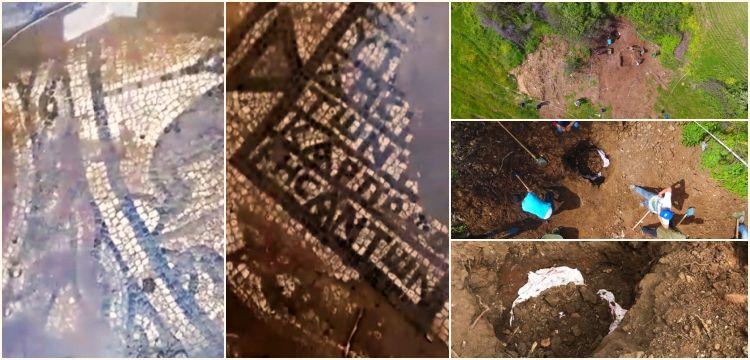 Lapseki'de bir tarlada kaçak kazıda mozaik bulan 4 defineci tutuklandı