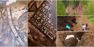 Lapsekide bir tarlada kaçak kazıda mozaik bulan 4 defineci tutuklandı