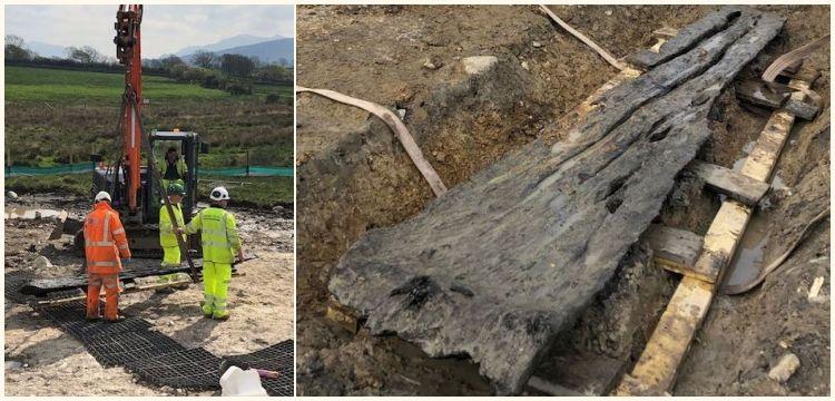 Galler'de kano olduğu sanılan 3.500 yıllık kütük bulundu