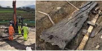 Gallerde kano olduğu sanılan 3.500 yıllık kütük bulundu
