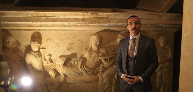 Hekatomnos'un Anıt Mezarı özel iklimlendirme sistemiyle korunuyor