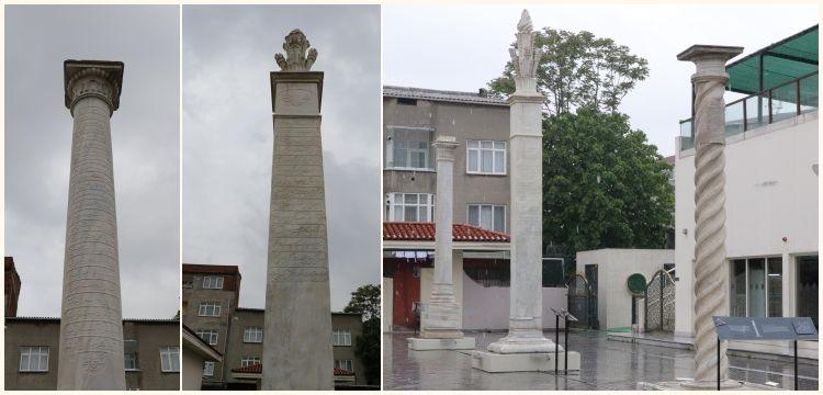 Okmeydanı'ndaki tarihi Osmanlı Menzil Taşları  Okçular Vakfı'nda toplandı