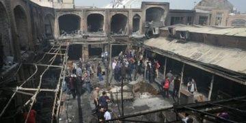 İrandaki Tarihi Tebriz Kapalı Çarşısındaki yangında zarar 8 milyon lira