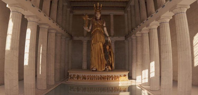 Parthenon'da Athena Parthenos'un bulunduğu cella yeniden inşa edilecek