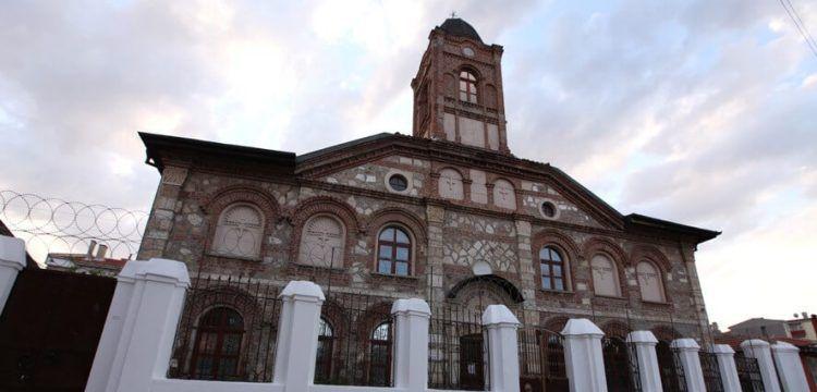 Edirne'de, Bulgar Ortodoks Kilisesinin kubbe restorasyonu tamamlandı