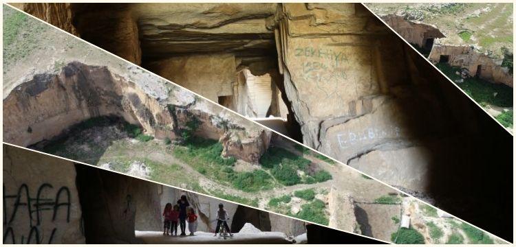 Şanlıurfa'nın antik taş ocakları Bazda Mağaraları
