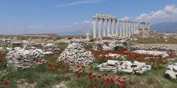 İki tiyatrolu Antik Kent Laodikyada arkeoloji çalışmaları aralıksız sürüyor