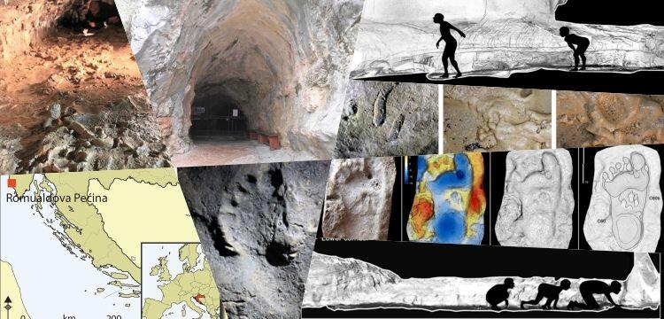 Mağarada bulunan paleolitik ayak izleri bakın neler söylüyor?