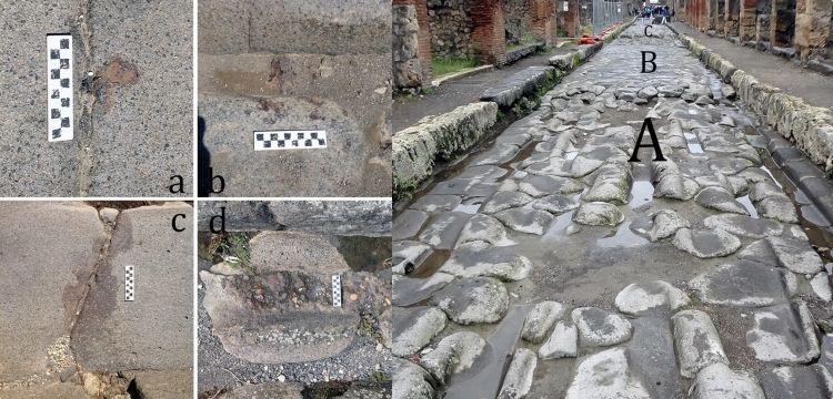Romalıların bozulan taş caddeleri demir eriterek onardığı anlaşıldı