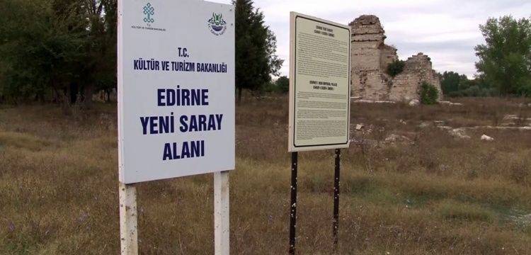 Edirne'deki Saray-ı Cedide-i Amire 'nin has bahçe kapısına ulaşıldı