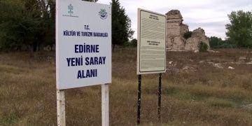 Edirnedeki Saray-ı Cedide-i Amire nin has bahçe kapısına ulaşıldı