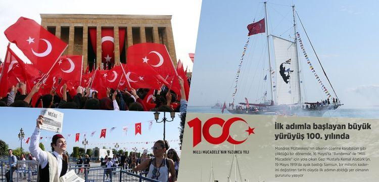Atatürk'ün Samsun'a çıkışının 100. yılını kutluyoruz