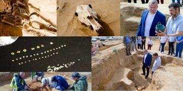 Rusyada içinde 3 iskelet ve bir at kafası olan kurgan bulundu