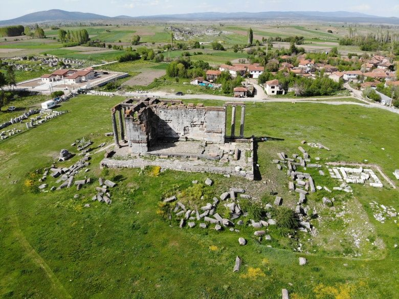Aizanoi Zeus Tapınağı havadan görüntülendi