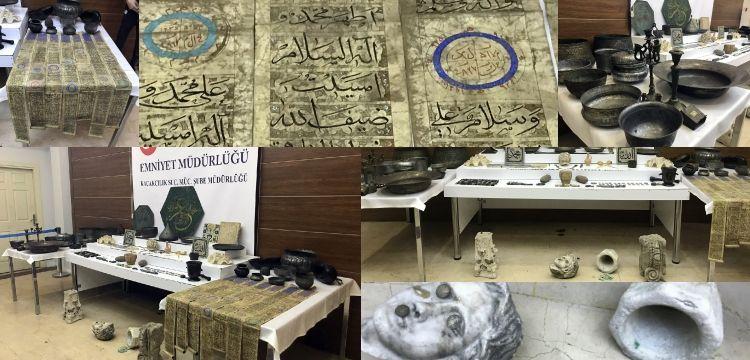 İstanbul'daki seri operasyonlarda 313 tarihi görünümlü eser yakalandı