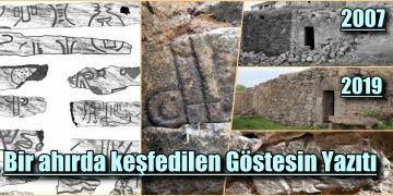 Kapadokyada bir ahırda keşfedilen Göstesin Yazıtı 12 yıldır korunuyor