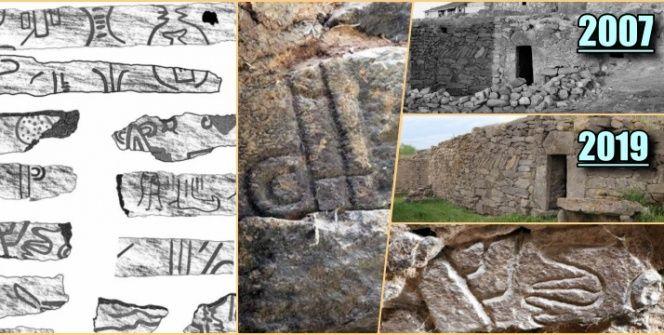 3500 Yıllık Luvi hiyeroglifli Hitit Yazıtı Kapadokyadaki ahırın duvarlarında