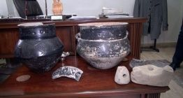 Erzurumlu çiftçi tarlasında 5 bin yıllık Yanık Kültüre ait çömlekler buldu