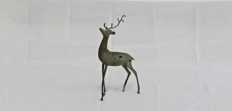 Siirt'te satılmak istenen 25 santimlik bronz geyik heykeli yakalandı