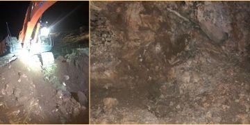 Arkeolojik sit alanına gece yarısı kepçeyle dalan 7 defineci yakalandı