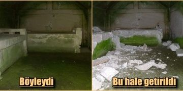 Yazılıkaya Midas Anıtı alanındaki yeraltı mezar odası parçalandı