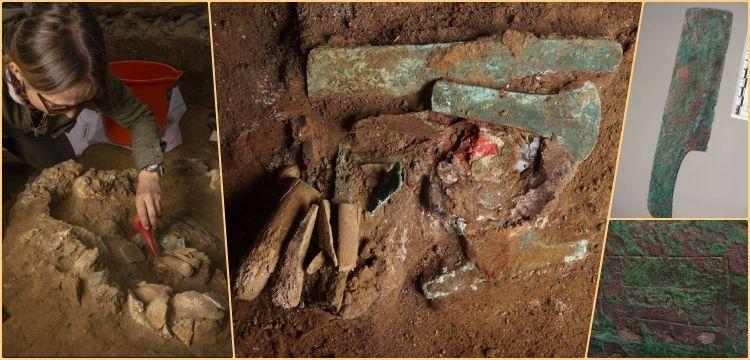 Peru'da içinde testere, balta, bıçak ve keski bulunan mezar keşfedildi