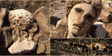 Roma Forumu kazılarında 2 bin yıllık heykel başı bulundu