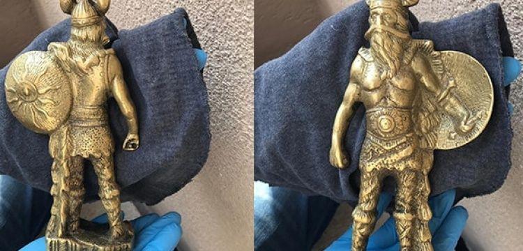 Kırşehir'de bir hurdacıda 'Viking heykeli' yakalandı