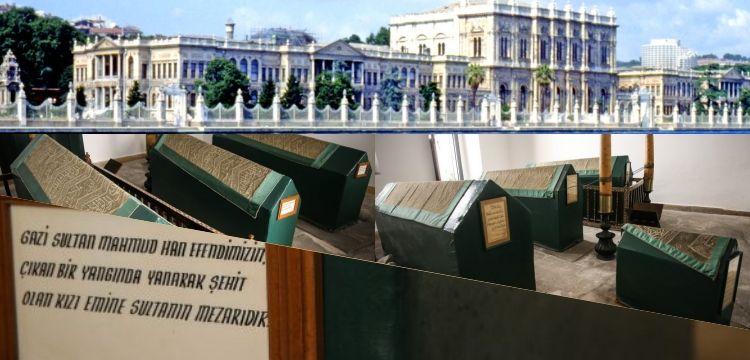 Dolmabahçe Sarayı'nın ziyaretçilere kapalı türbesi basına açıldı