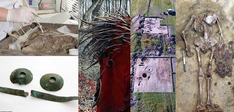 Gaga kıyafetli ve bronz gözlüklü şamanik iskeletler bulundu