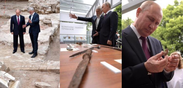 Putin,  Taynitsk Bağı'nda çalışan Rus arkeologları ziyaret etti