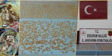 Bir yolcuda Bizans sikkesi gürünümlü 3200 adet altın para yakalandı