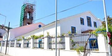Bozcaadadaki Rum Ortodoks Kilisesinin çan kulesi restore edilecek
