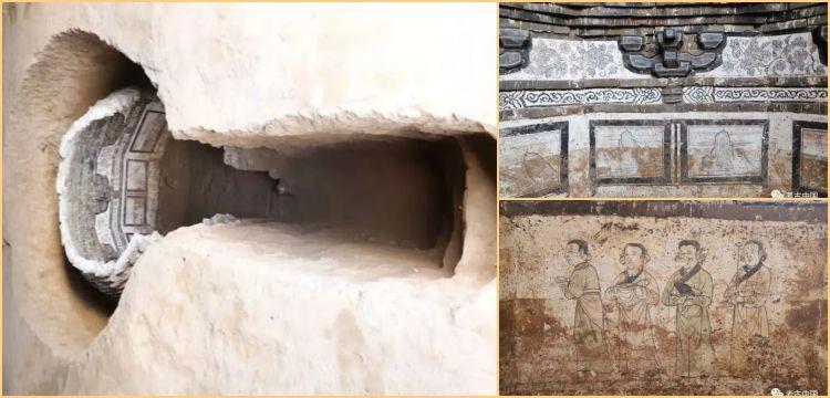 Çin'de 700 yıllık renkli duvar resimleri bulunan oda mezar keşfedildi