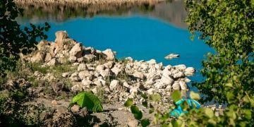 Nemrut Krater Gölünde kamp kuranların sayısı artıyor