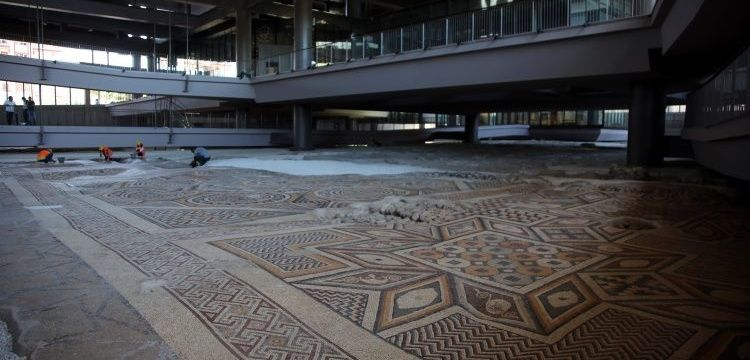 The world's biggest one-piece ground mosaic in Hatay Archaeology Museum