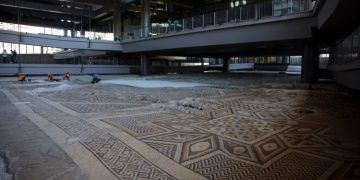The worlds biggest one-piece ground mosaic in Hatay Archaeology Museum