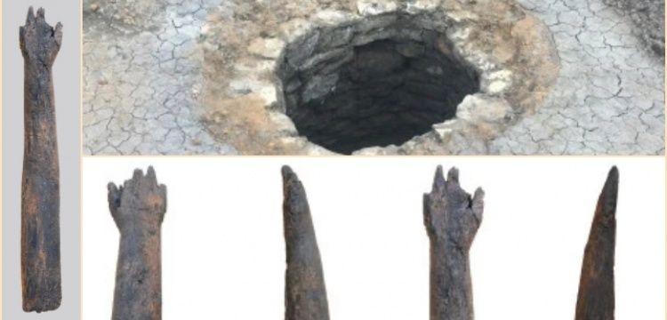 İngiltere'de bir kuyuda ahşap insan kolu bulundu