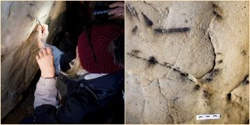Archaeologists have discovered the oldest paintings on Czech territory.