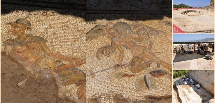 Antiocheia Ad Cragum Antik Kenti'ndeki mizahi mozaikler basına tanıtıldı