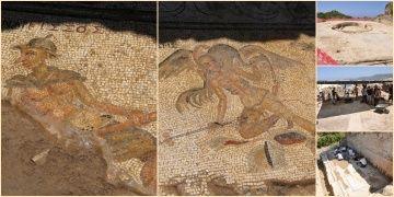 Antiocheia Ad Cragum Antik Kentindeki mizahi mozaikler basına tanıtıldı