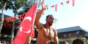 Chief Wrestler Ali Gurbuz at 658th The Kirkpinar Oil Wrestling Festival