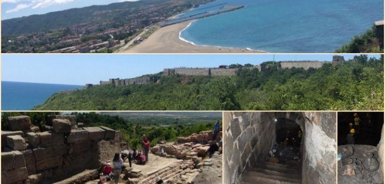 Çaycuma'daki Tieion Antik Kenti'nde 350 basamaklı yapı keşfedildi