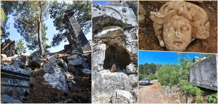 Defineciler Colybrassus Antik kentini tarumar etti: Medusa başı kayıp