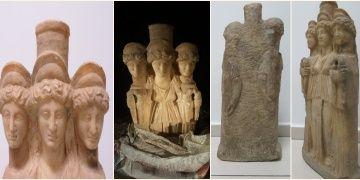 Denizlide yurt dışına kaçılmak istenen Hekate heykeli yakalandı