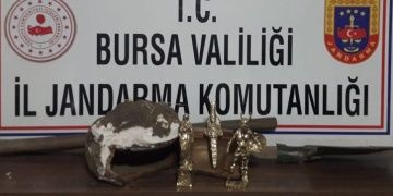 Tarihi eser dolandırıcılığının ünlü üçlüsü bu kez Bursada yakalandı