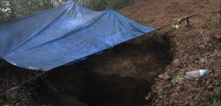 Zonguldak'ta branda altında kaçak kazı yapan 2 defineci yakalandı